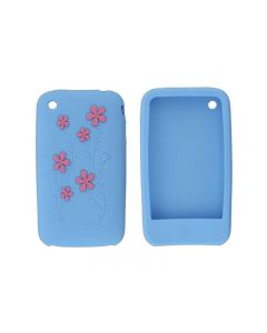 Xccess Silicone Case Apple iPhone 3G(S) Flower Light Blue