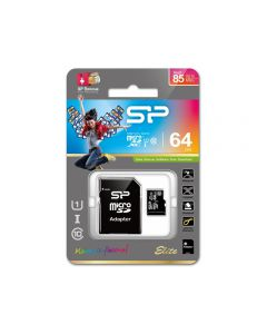 Silicon Power Micro SDHC incl. SD Adapter 64GB UHS-1 Class 10