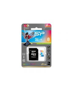 Silicon Power Elite Micro SDHC incl. SD Adapter 8GB UHS-1 Class 10 Color