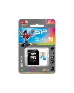 Silicon Power Elite Micro SDHC incl. SD Adapter 16GB UHS-1 Class 10 Color