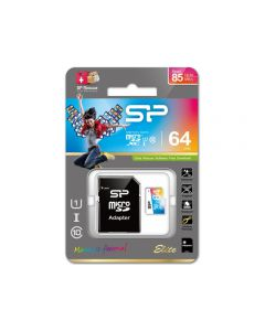 Silicon Power Elite Micro SDHC incl. SD Adapter 64GB UHS-1 Class 10 Color