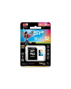 Silicon Power Superior Pro Micro SDHC incl. SD Adapter 32GB UHS-1 U3 Class 10 Color
