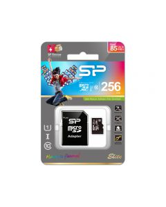 Silicon Power Micro SDHC incl. SD Adapter 256GB UHS-1 Class 10