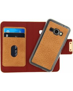 Mobilize Detachable Wallet Book Case Samsung Galaxy J1 2016 Terracotta with Copper Closing