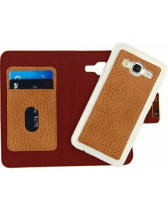 Mobilize Detachable Wallet Book Case Samsung Galaxy J5 Terracotta with Copper Closing